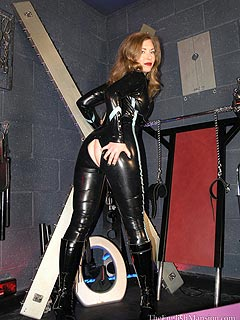 Rubber fetish suit female latex catsuit