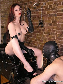 Bare feet fetish femdom cbt video