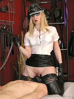 Leather smothering financial domination