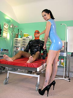 Latex military dress femdom hypnotist