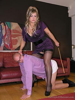 MILF lady turns out to be an experienced dominatrix who loves subjecting men to all kinds of corporal punishments