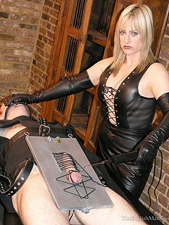 Pantyhose punishment foot dominatrix