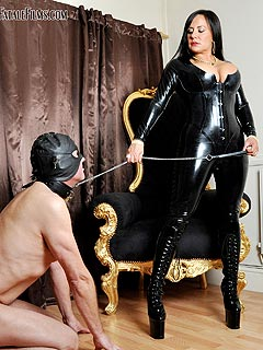 Full latex catsuit sexy black shoes