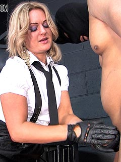 Cbt ball busting strapon punishment