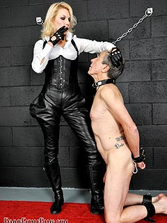 Whipping therapy deep throat punishment
