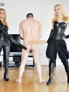 Bound domination spanking bare butt