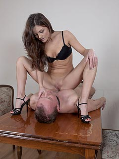 Mature domination licking hot pussy