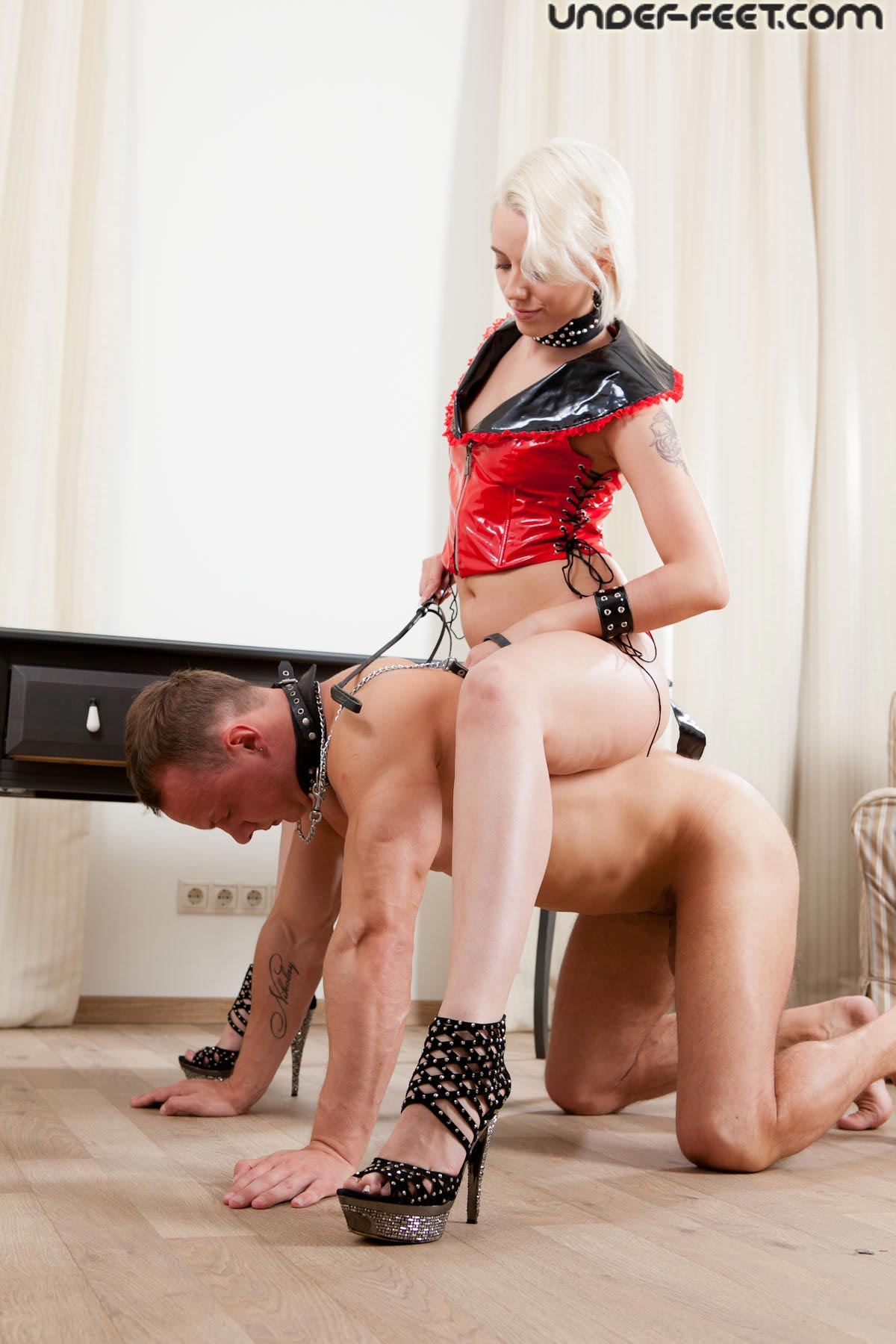 Dominatrix castration celebrity high heels