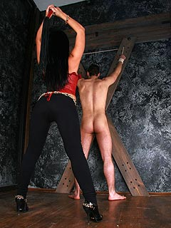 Whipping cane goddess foot domination