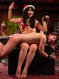 The spirit of Christmas is adding that very special bit of kink to the femdom BDSM action
