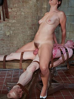 Miserable femdom slave is receiving full-force punishments from the lovely girl who turns out to be real bitch