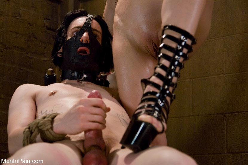 Forced female domination gorgeous brunette sex