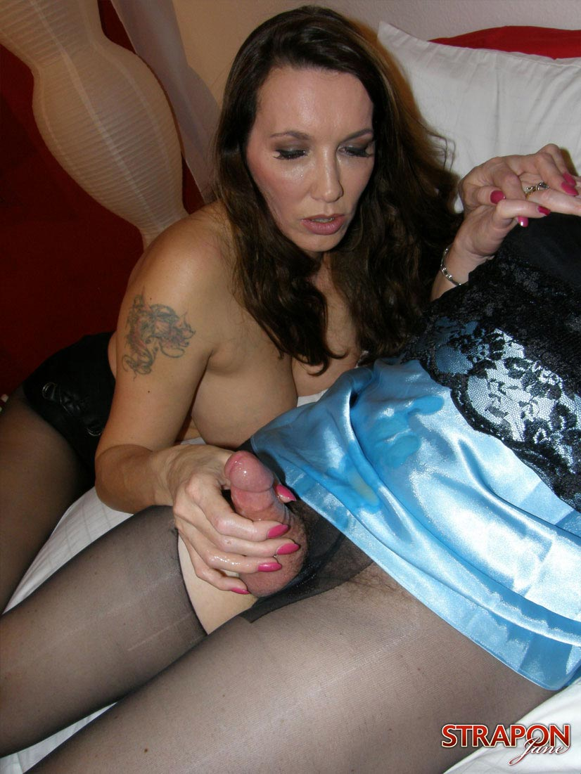 Sexy brunette model enforced feminization