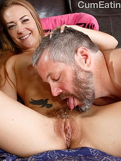 Wife slut is using her hairy cunt as a place to serve other men cum for her hubby