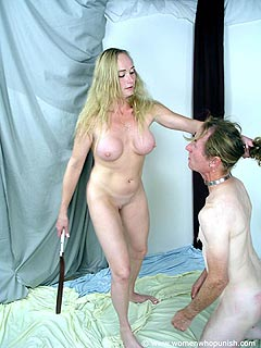 This is not just femdomspanking or whipping. This scene can be qualified as full-force beating up